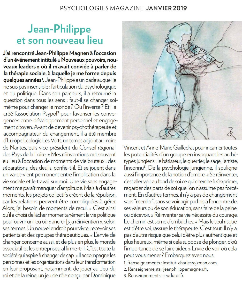 article Psychologies magazine Jean Philippe Magnen web